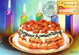 """"""" JOYEUX ANNIVERSAIRE """" Sur Carte Maximum De 1998 . N° YT 3141. Parfait état. CM - Ohne Zuordnung"""