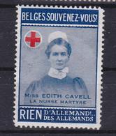 Wereldoorlog I Edith Cavell Souvenez-vous Vignette - Unclassified