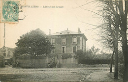 95 SURVILLIERS. Hôtel De La Gare 1906 Avec Son Personnel - Survilliers