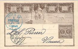 1895 Cartolina Postale Anniversario Liberazione Roma Viaggiata Bari (2.11) Per Vienna Non Tassata - Marcophilia