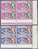"""1960-(MNH=**) Gran Bretagna S.2v.""""Europa Cept"""" In Quartina Con Angolo Di Foglio - Unused Stamps"""