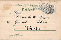"""1899-Austria Cartolina """"la Portatrice D'acqua""""con Annullo Austro-ungarico """"Roveredo"""" - Unclassified"""
