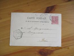 1904 Brignoud Recette Auxiliaire Cachet Hexagonal Obliteration Lettre - 1921-1960: Modern Period