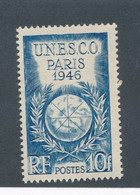 FRANCE - N° 771 UNESCO BLANC NEUF** SANS CHARNIERE - 1946 - Curiosa: 1945-49 Postfris