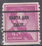Locals USA Precancel Vorausentwertung Preo, Bureau California, Santa Ana 1058-71 - Precancels