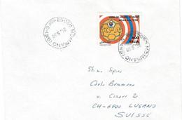 1990 CAMPIONATI CALCIO Lire 800 Sud Corea (1916) Su Busta Mompiano Per La Svizzera - 1981-90: Marcofilia