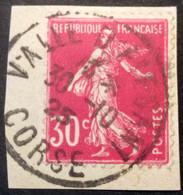 191 ° 1 Corse Valle D'Alsani 30/10/1925 Semeuse 30c Rose - 1921-1960: Moderne