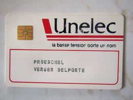 CARTE A PUCE MAINTENANCE UNELEC - Exhibition Cards