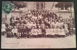 Carte Postale Frévent Pensionnat Du Sacré Coeur 1914 Photo De Classe - Andere Gemeenten
