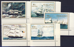 1970-(MNH=**) Sealand Serie 5 Valori Navi, Dipinti - Used Stamps