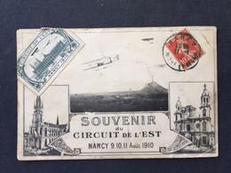 Souvenir Du Circuit De L'Est - Nancy ,9,10,11 Aout 1910 + Vignette - Meetings