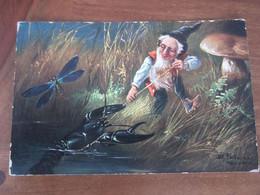 Carte Postale Illustrateur La Pêche Aux écrevisses - Altre Illustrazioni
