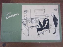 Carte Postale Illustrateur Jacques Faizant Les Ravageuses - Faizant