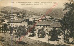 07.  SAINT MARTIN DE VALAMAS .  Vue Générale .  Route D'Arcens Et Quartier De La Plaine . - Saint Martin De Valamas