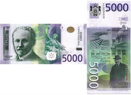 SERBIA 5000 DINARA 2016 P 62 - UNC - Serbia