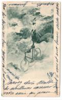 JACK ABEILLÉ 1899 - 1900 Illustrateur Art Nouveau FEMME FUNAMBULE À VELO - Otros Ilustradores