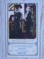 Chromo Image Pub 34 BEZIERS - J. CAVAILLES Chemisiers, 22 Rue Française - - Beziers