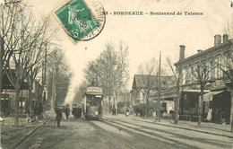 2 X Cpa 33 BORDEAUX. Boulevard De Talence 1909 Et Grand Théâtre Cours Du Chapeau Rouge 1913 - Bordeaux
