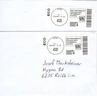 2 Briefe Von 4320 Perg Mit 74 Cent Bar Freigemacht 2021 - 2011-... Lettere