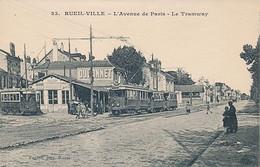 RUEIL VILLE - N° 23 - L'AVENUE DE PARIS - LE TRAMWAY - Rueil Malmaison