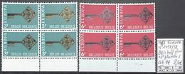 D - [858622]TB//**/Mnh-c:9e-Belgique 1968 - N° 1452/53, Bd4, Bdf Dont N° Planche 2, Europa-Cept - 1961-1970