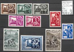 D - [858664]TB//**/Mnh-c:18e-Belgique 1943 - N° 631/38/39/40, Secours D'hiver, 2 Séries Complètes - Unused Stamps