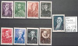 D - [858670]TB//**/Mnh-c:7e-Belgique 1944 - N° 661/69, Série Complète, Personnalités - Unused Stamps