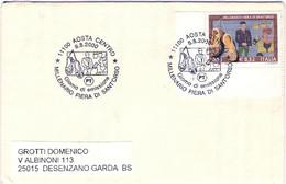 2000-busta Affrancata L.1000 Fiera Di Santorso,viaggiata,annullo Fdc - F.D.C.