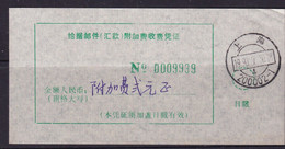 CHINA CHINE CINA SHANGHAI 200002-1 POSTAL ADDED CHARGE LABELS (ACL) 2.0YUAN - Non Classificati