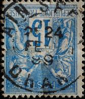 -Sage N°90 Type II  Ob  ( CAD ) ORAN  AIN SEFRA. 1899.  ( Rare ) - 1876-1898 Sage (Type II)