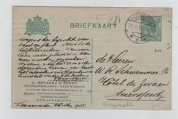 REF4186/ Holland Briefkaart Menalda & Zonen Wijnhandelaren C. Leeuwarden 28/5/18 > Amersfoort - Postal Stationery