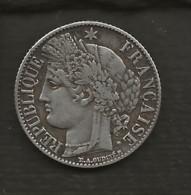 FRANCE / Monnaie Pièce Cérès 1 Franc 1887 A  Argent - H. 1 Franco