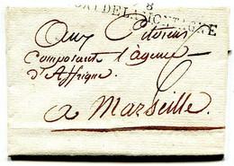 78 PORT DE LA MONTAGNE (Toulon) Sur Lettre Pour Marseille An 2 - 1701-1800: Precursores XVIII