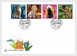 Croatia Kroatien  MNH ** 2021  Children's World – Cats 3 FDC - Croatie