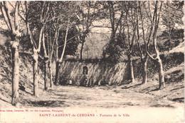 FR66 SAINT LAURENT DE CERDANS - Brun - Fontaine De La Ville - Belle - Other Municipalities