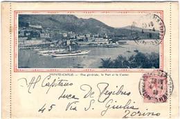 1919-Monaco Libretto Composto Da 12 Piccole Vedute+1 Grande Di Montecarlo Affr.10c. Diretto In Italia - Marcophilie