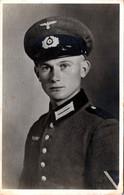 Carte Photo Originale Guerre 1939/45 - Portrait Studio D'un Jeune Soldat Officier De La Wehrmacht Vers 1930/40 - Guerre, Militaire