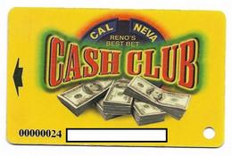 Cal Neva Casino, Reno, NV, U.S.A., Older Used Slot Or Player's Card, # Calneva-1 - Casino Cards