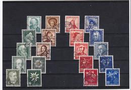 Pro Juv. 1940, 1941, 1942, 1943 Und 1944 Gestempelt (MiNr. 373/76, 399/02, 412/15, 424/27, 439/42) - Usados