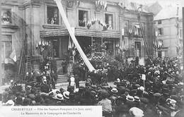 La MANOEUVRE De La Cie Des Sapeurs Pompiers De Charleville -Fêtes Du 12 Juin 1910- TRES ANIME - Charleville