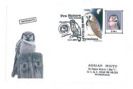 COV 25 - 256 OWL, Romania - Used - 2005 - Eulenvögel