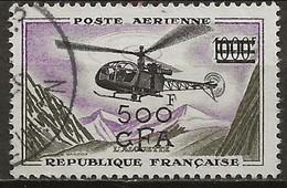 REUNION CFA: Obl., PA N° YT 57, TB - Airmail