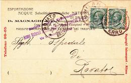 1914- Ditta A.Magnaghi In Milano,esportazione Acque Salsolitiobromoiodiche - Milano (Milan)