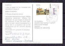 EX STAMPS 21-04-11 OPEN LETTER AMNESTY INTERNATIONAL FROM PORTUGAL TO ISLAM KARIMOV,PRESIDENT OF UZBEKISTAN, 08.03.1993. - Cartas
