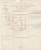 Facture 16/8/1867 MARQUIS JOUNET Savon MARSEILLE Bouches Du Rhône Pour Boissarie Terrasson Dordogne Timbre Napoléon - 1800 – 1899