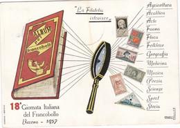 18 Giornata Italiana Del Francobollo Verona 6-7 Aprile 1957 - 1946-60: Marcofilie
