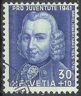 Schweiz Suisse Pro Juventute 1941: Daniel Jeanrichard Zu WI 100 Mi 402 Yv 374 Mit Eck-Stempel BRIEFANNAHME(Zu CHF 11.00) - Clocks