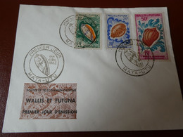 WALLIS ET FUTUNA -1963 FDC MARINES ET FAUNES - Unclassified