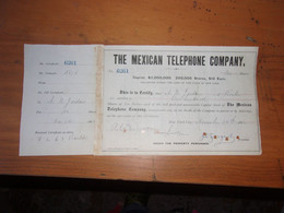 THE MEXICAN TELEPHONE (1886) - Unclassified
