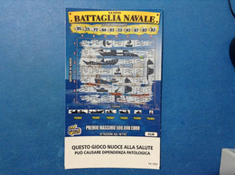 ITALIA BIGLIETTO LOTTERIA GRATTA VINCI USATO € 5,00 NUOVO BATTAGLIA NAVALE LUNA LOTTO 3303 VARIANTE SENZA LOGO TIMONE - Billetes De Lotería